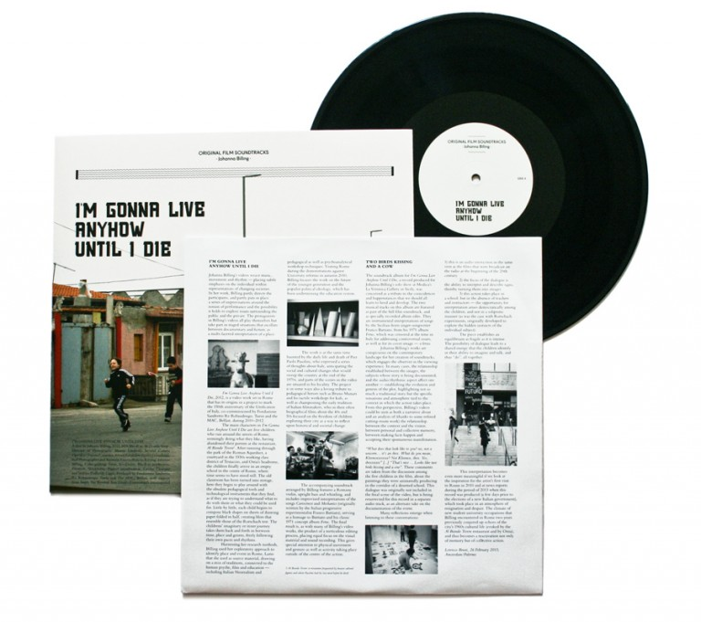 "Johanna Billing I'm Gonna Live Anyhow Until I Die — 12"" Vinyl, 2012"