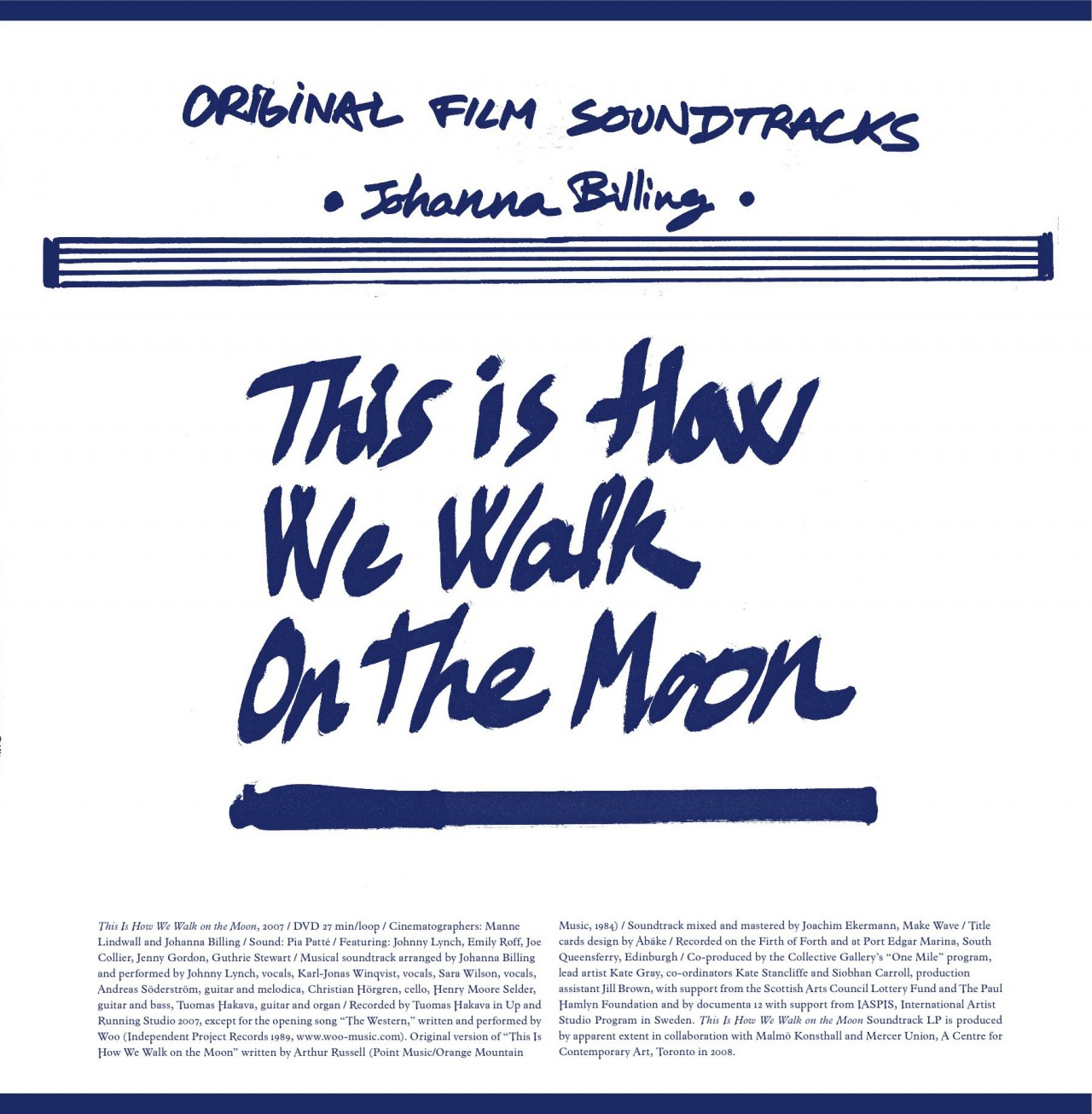 "Johanna Billing This is How We Walk on the Moon 12"" Vinyl, 2008"
